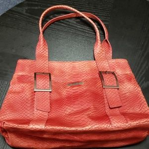 Kenneth Cole large coral tote